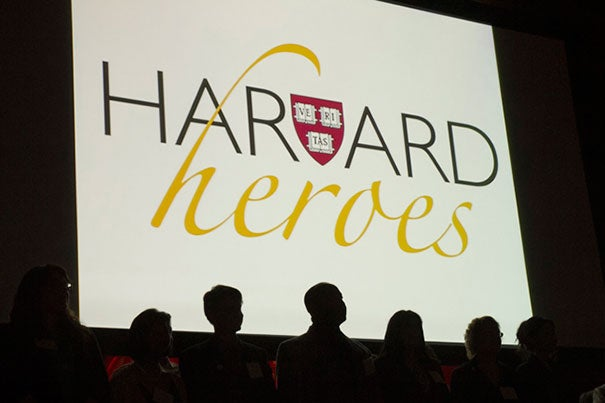 Harvard Heroes are celebrated in a ceremony at Sanders Theatre June 13.