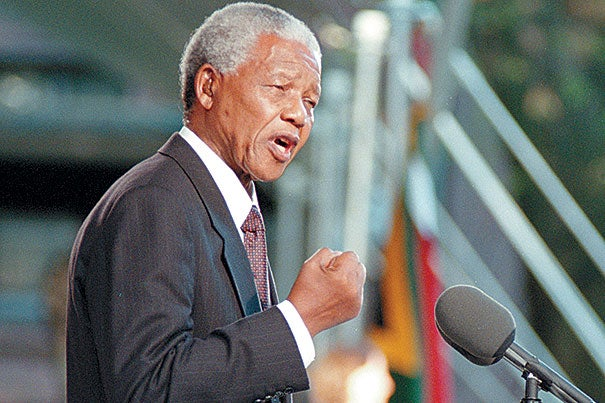 In September 1998, Nelson Mandela delivered a speech during a special ceremony at Harvard, where he was awarded an honorary degree.