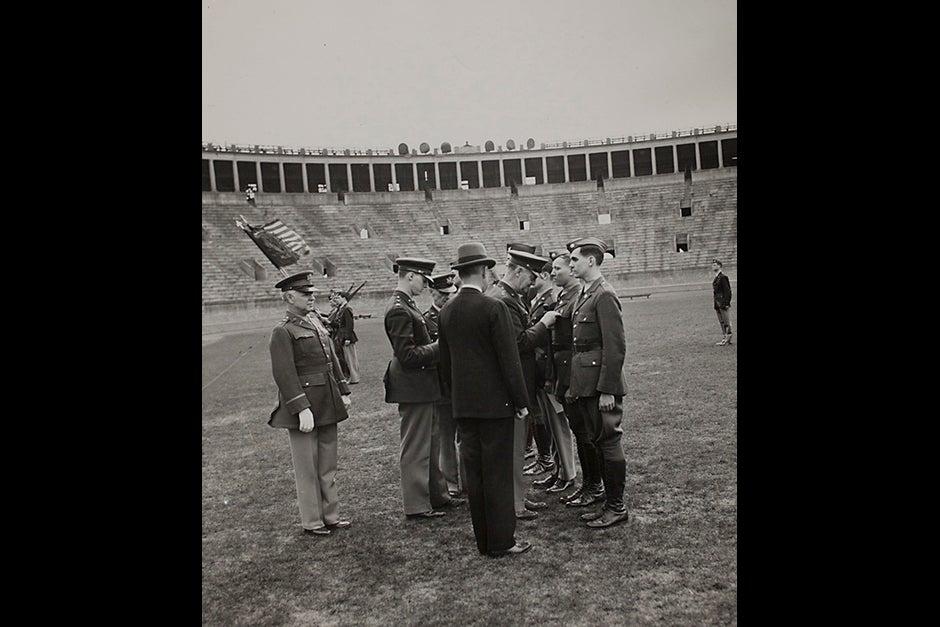 "Harvard University Archives image. Inscription reads, ""Army, July 1943."" Stephanie Mitchell/Harvard Staff Photographer"