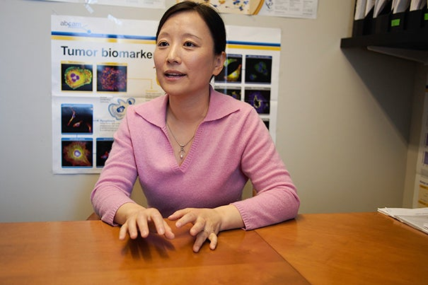 """Li Chai: """"I am excited about being on the front line of this new drug development. As a physician-scientist, if I can find a new class of drug that has very low toxicity to normal tissues, my patients can have a better quality of life."""""""