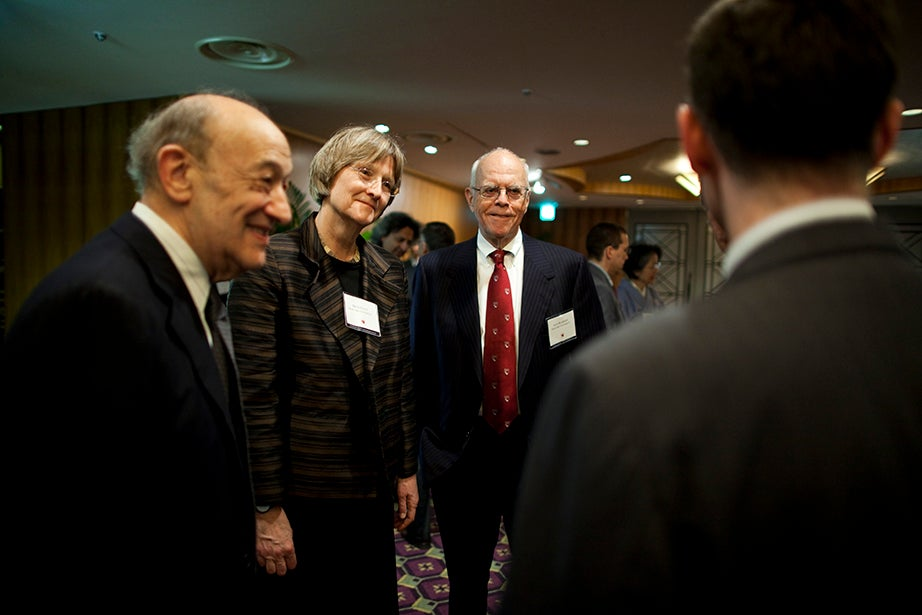 Drew Faust attends Harvard Club of Japan Dinner