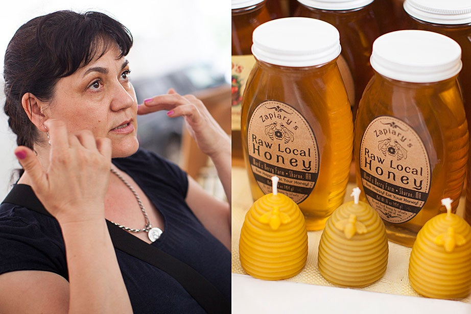 """Many people believe that local honey is good for allergies. But try a teaspoon in warm water and drink it before breakfast. """"It improves digestion,"""" said Sofia Vidolov, whose husband is the beekeeper. """"Or you can use honey as a face mask with a little yogurt and strawberries."""" The proof is in the pudding: """"I'm 50 years old!"""" boasts Vidolov."""