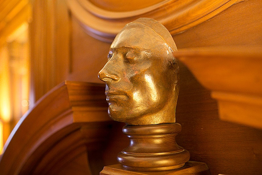 A life mask of John Keats resides in the Keats Room.
