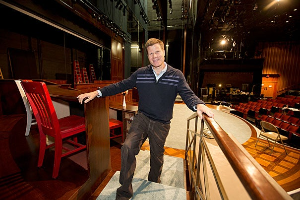 "Bill Rauch '84, the artistic director of the Oregon Shakespeare Festival, has returned to Harvard to direct Bryan Cranston as President Lyndon B. Johnson in ""All the Way."""