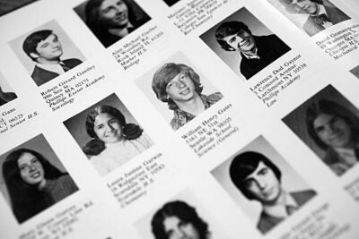 Bill Gates as pictured in his freshman yearbook. Gates attended Harvard from 1973 to 1975.
