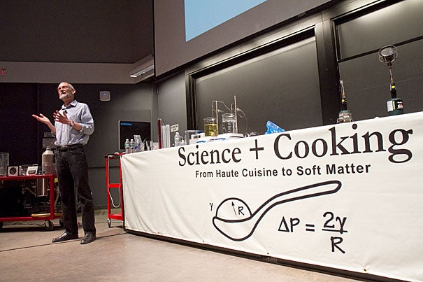 """New York Times columnist Harold McGee used history as his backdrop when kicking off the School of Engineering and Applied Sciences' """"Cooking and Science"""" lecture series."""