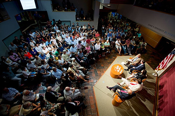 An Institute of Politics forum asked its panel of policy experts if Syria should be attacked. It also allowed audience participation. With clickers in hand, 45 percent of the audience cast their vote in favor of military action and 55 percent voted no.