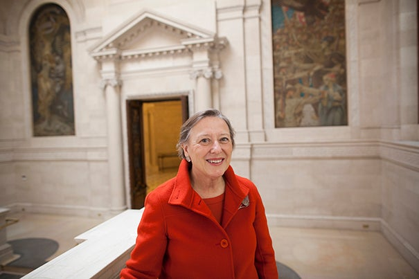 """I've been associated with Harvard for a large part of my adult life in one way or another, and I thought, 'Gosh, if there's a way I can help bring this institution together, I would like to do it,' "" said Sarah Thomas, the vice president of Harvard Library, who is also the newly appointed Roy E. Larsen Librarian of the Faculty of Arts and Sciences."