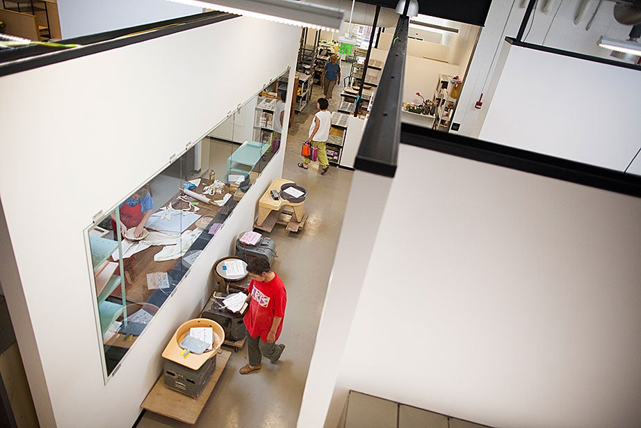 An overview of the modern digs.