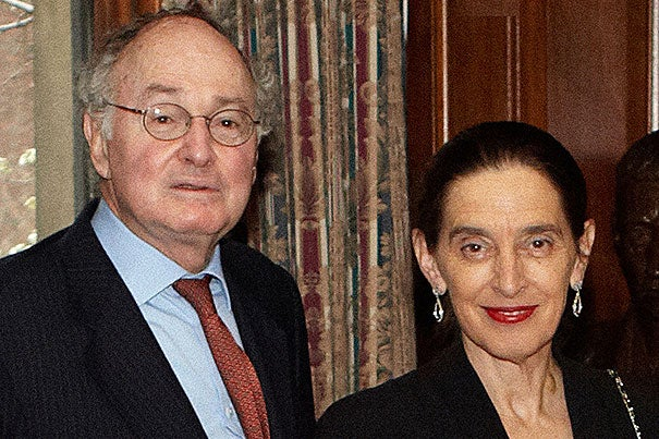 The Harvard School of Public Health has received $12.5 million from the Charina Endowment Fund and Richard L. (M.B.A. '59) and Ronay Menschel of New York City.