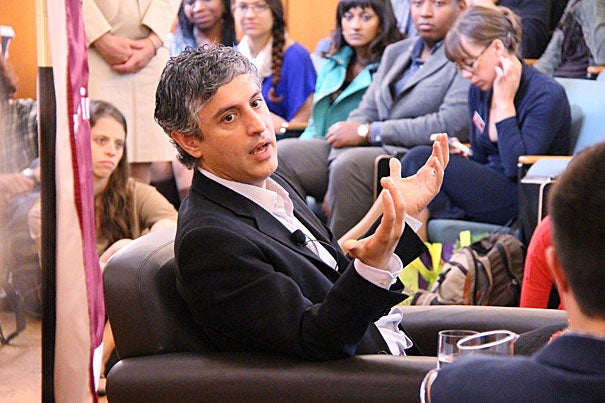 """""""The problem with discussing religion is that everyone thinks they are an expert … If you read the Bible, you're an expert on religion. When the news media have a conversation about the climate, they bring on a climate scientist. But when they want to talk about religion, they bring on some activist or religious leader, not an expert on religion,"""" said Reza Aslan, M.T.S. '99, author of """"Zealot: The Life and Times of Jesus of Nazareth."""""""