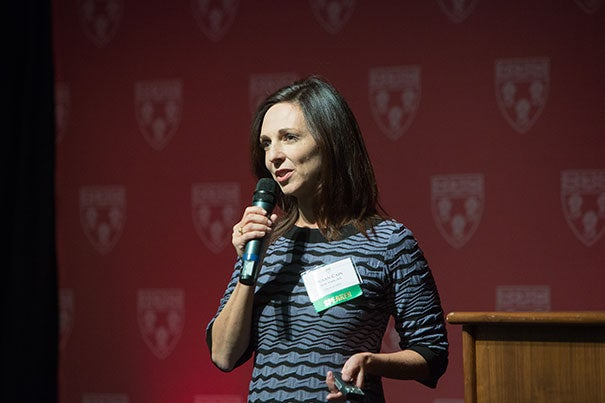 "In a keynote address at ""Celebration 60,"" Susan Cain, a 1993 Harvard Law School graduate and author of the best-selling ""Quiet: The Power of Introverts in a World That Can't Stop Talking,"" discussed how society needs both the skills and expertise of those more comfortable in the spotlight and the strengths and talents of those who describe themselves as introverts."