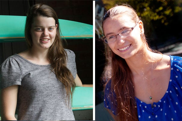 The similarities between Victoria Basedow (left) of Eden Hills, Australia — the incoming Harvard freshman from the farthest locale — and Cambridge's own Serena Blacklow — the closest — don't begin and end with their last names. The new students are also both rowers.
