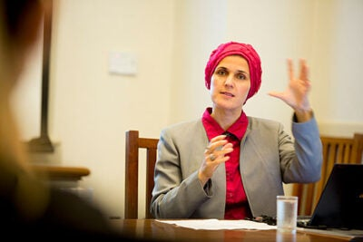 """There is hope, and people really believe it is possible to live together,"" said Zilka Spahic-Siljak, a visiting lecturer on women's studies and Islamic studies and a research associate in women's studies at Harvard Divinity School."