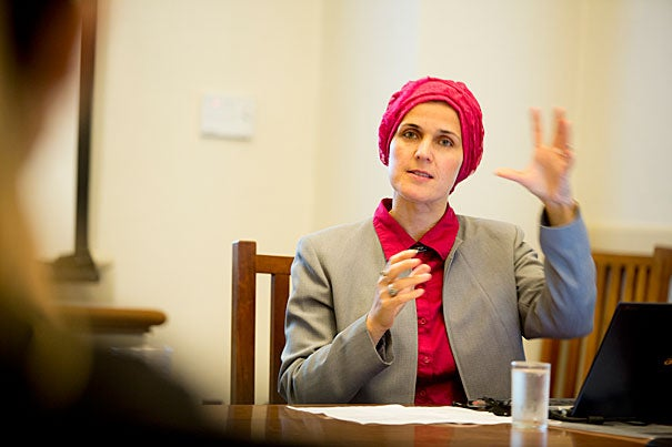 """""""There is hope, and people really believe it is possible to live together,"""" said Zilka Spahic-Siljak, a visiting lecturer on women's studies and Islamic studies and a research associate in women's studies at Harvard Divinity School."""
