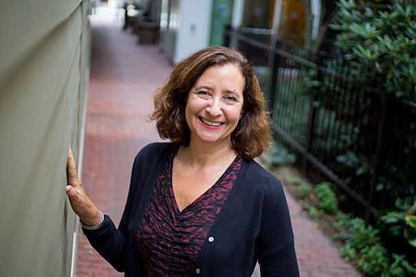 """""""I really believe in this course, and I really believe in people making meaning together,"""" said Elisa New, the Powell M. Cabot Professor of American Literature."""