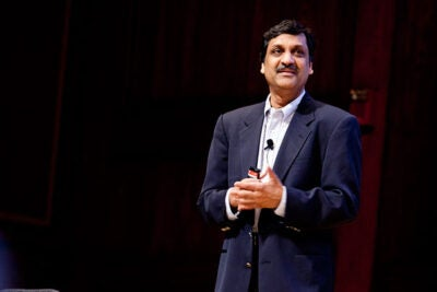 """""""The millennial generation is completely comfortable doing things online, and here we are in the classrooms fighting everything,"""" edX President Anant Agarwal told his Askwith Forum audience. """"Instead of fighting it, let's embrace it and see if we can get them to learn with these new modalities and do better."""""""
