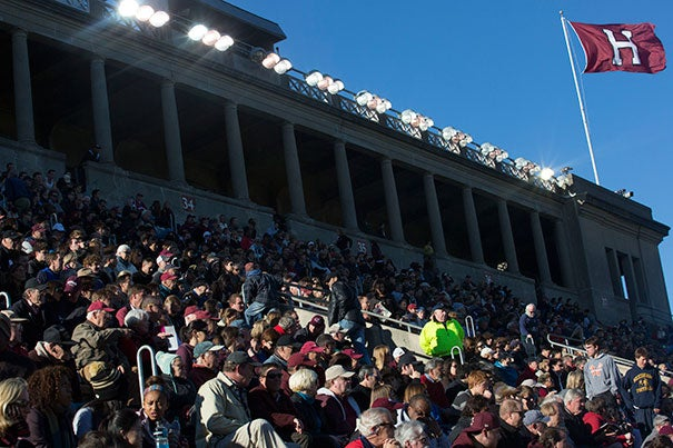 For more than 20 years, Harvard has hosted neighbors on both sides of the river with game tickets as well as lunch, free of charge. This year's game was Harvard vs. Lafayette.
