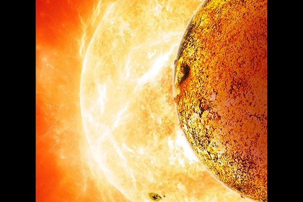 Kepler-78b, shown in image 1 in an artist's conception, is a mystery. Experts say it couldn't have formed so close to its star, nor could it have moved there. Image 2 compares Earth to the newly confirmed lava planet, while image 3 illustrates its tight orbit.