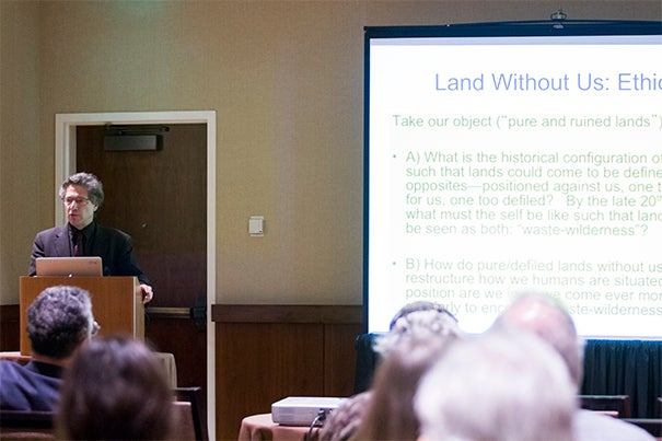 """The annual meeting of the History of Science Society in Boston featured speakers such as Harvard's Joseph Pellegrino University Professor Peter Galison, who delivered a lecture on """"nuclear wastelands"""" in the United States, the enormous tracts set aside for toxic dumps related to nuclear power and bomb-making."""