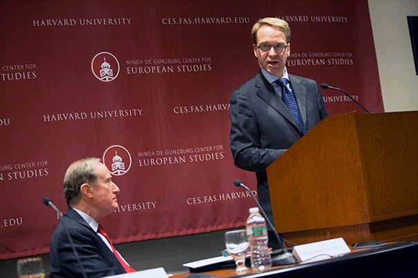 """Jens Weidmann, president of the German Central Bank, delivered the inaugural speech at the Center for European Studies' European Economic Policy Forum, telling the crowd that """"piling more and more stabilization tasks onto monetary policy, stability will prove ever more elusive."""""""