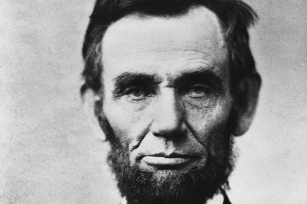 A detail from a famous photograph of President Abraham Lincoln. It was taken by Alexander Gardner on Nov. 8, 1863, just weeks before Lincoln would deliver the Gettysburg Address.