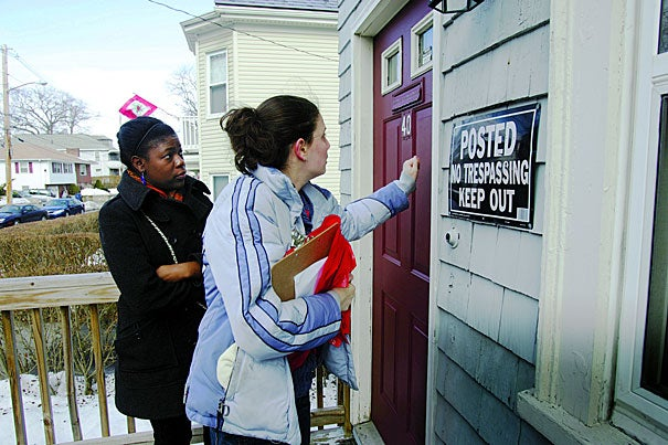Project No One Leaves, a tenants' rights organization, was established in 2008 by members of the Harvard Legal Aid Bureau.