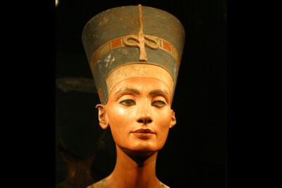 "A visiting scholar suggests that Nefertiti (photo 1) wasn't quite who people imagine she was, and eventually was revered as something of a sex goddess. Nefertiti is ""often represented as a powerful and independent figure,"" said Jacquelyn Williamson (photo 2), and has a ""reputation as being a uniquely strong queen."""