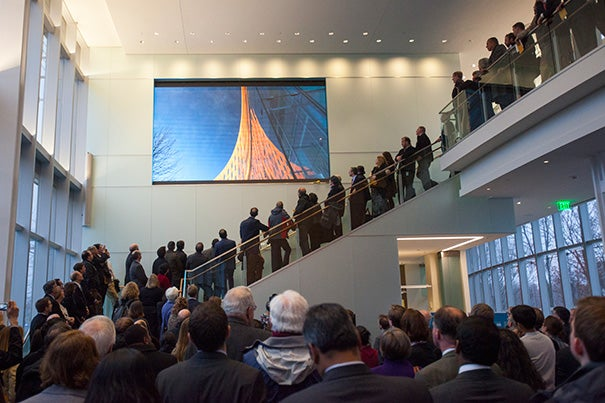 """At a dedication ceremony on Monday for the opening of Tata Hall (photo 1), named in honor of Ratan Tata (photo 2), a 1975 graduate of the advanced management program at Harvard Business School, Dean Nitin Nohria (photo 3) called Tata Hall """"a gift that will transform our campus for decades to come."""""""