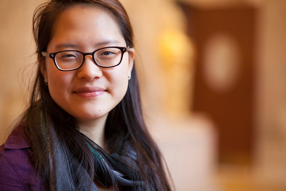 """Ye Dam Lee '15, co-head usher: """"Memorial Church has been the first church of which I feel truly a part. Going to church on Sunday has been one of the things that anchor me every week, to God and to life outside of academics. … More than any other place on campus, Memorial Church is where I feel at home."""""""