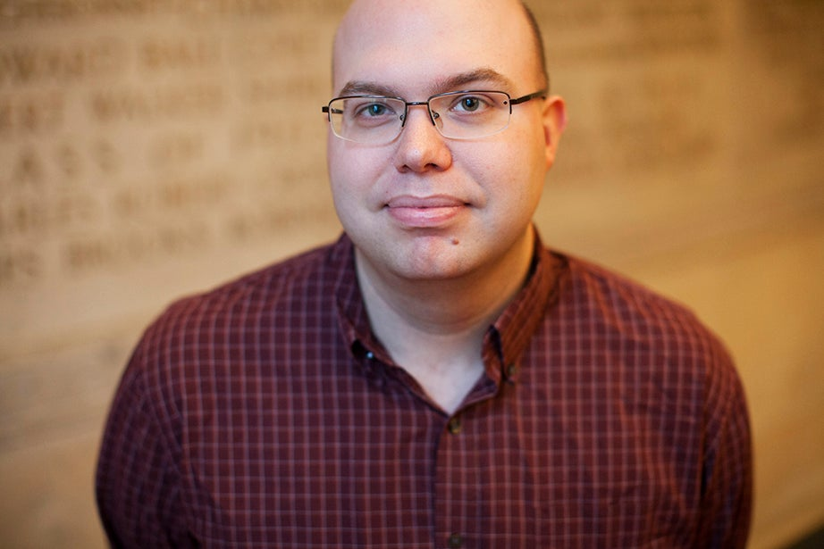 """Carson Cooman, composer in residence: """"It is a great pleasure and privilege to be a part of this wonderful University community in this tremendous city. Memorial Church in particular has been a place where, for many years, worship experiences and programming of excellence have been offered to reach students and community alike."""""""