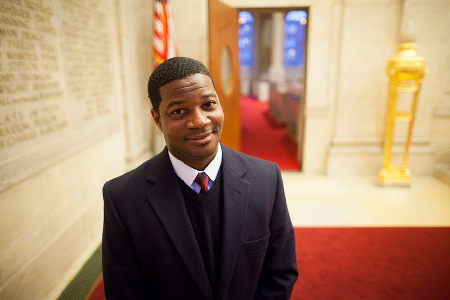 """Jonathan Walton, Plummer Professor of Christian Morals and Pusey Minister in the Memorial Church: """"As I always say, everyone at Harvard may not belong to the Memorial Church, but the Memorial Church belongs to everyone at Harvard."""""""