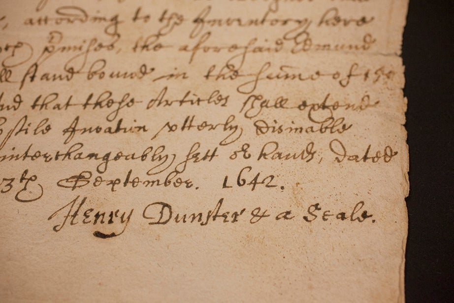 Henry Dunster, 1642, the year Harvard graduated its first class