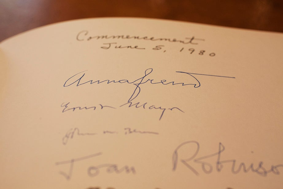At the top, Anna Freud, 1980, the year she received an honorary doctorate