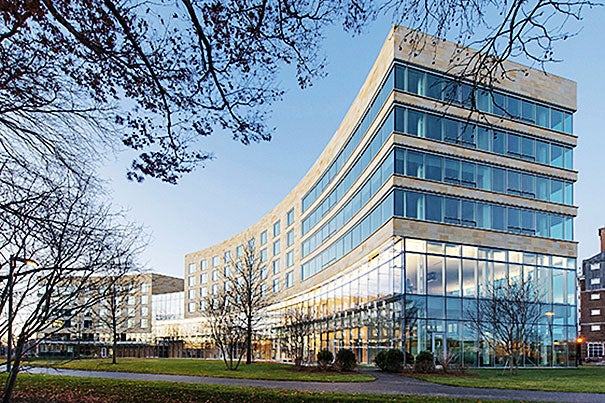 Located on the northeast corner of Harvard Business School's campus in Allston, Tata Hall will house executives who come from around the globe to advance their education.
