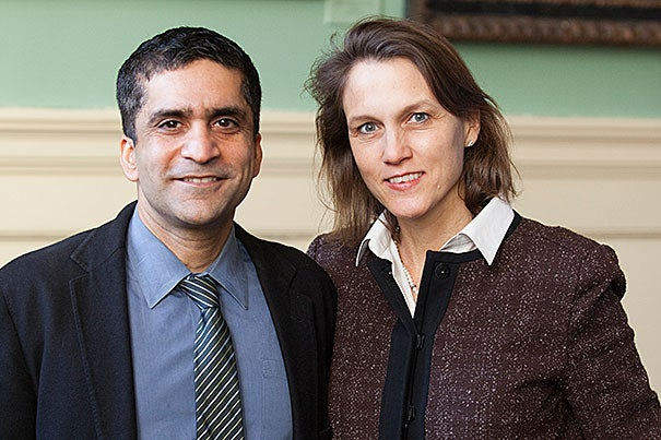 "Rakesh Khurana, who was named dean of Harvard College, also shares the role of co-master at Cabot House with his wife, Stephanie. ""I believe that the perspective and the experience we bring by having the privilege of living with our undergraduate students and tutors at Cabot House gives me a window into our students' day-to-day experiences and the questions they are trying to answer,"" he said."