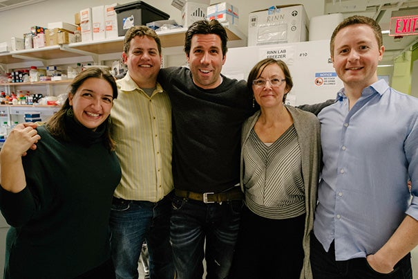 Research by Harvard Stem Cell Institute scientists shows that much lincRNA plays an important role in the genome, contrary to previously held beliefs. The research team includes Simona Lodato (from left), Loyal Goff, John Rinn, Paola Arlotta, and Martin Sauvageau.
