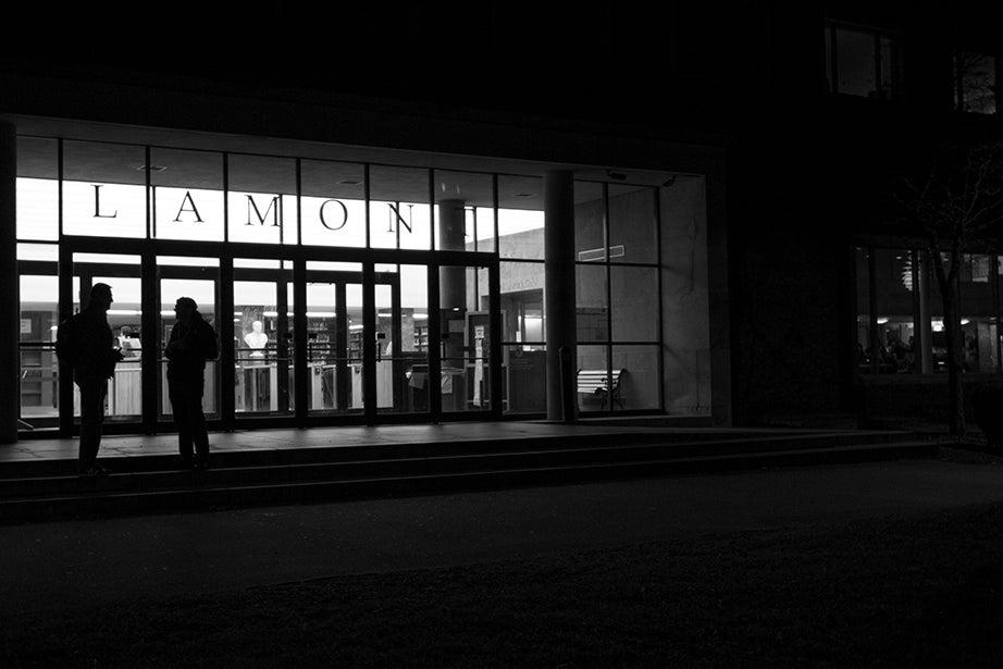 6:22 p.m., Lamont Library
