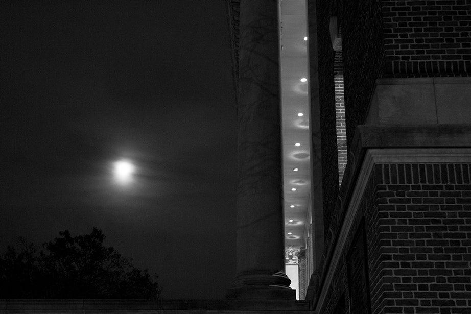 6:14 p.m., Widener Library