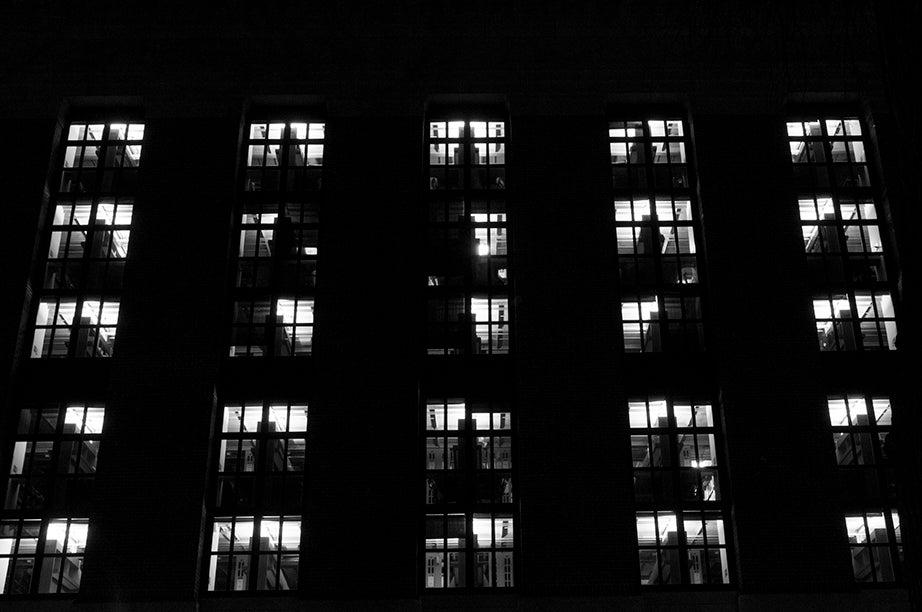 5:37 p.m., Widener Library