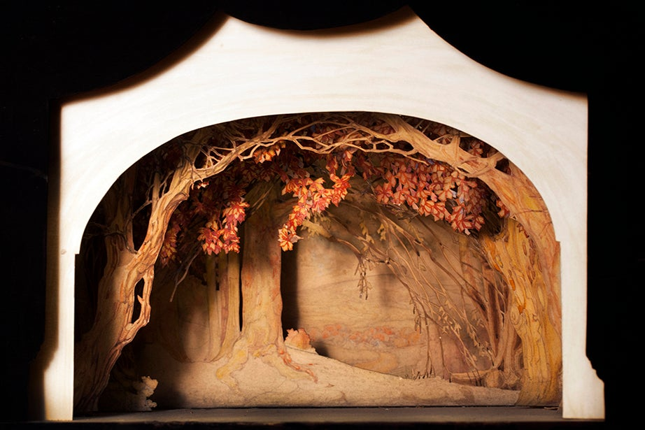 A stage model depicting a haunted wood. Date and production unknown.
