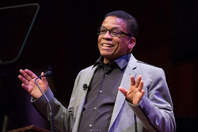 """The Wisdom of Miles"" was the title of Herbie Hancock's first lecture in the series of talks he will give over the next two months as the 2014 Norton Professor of Poetry. ""Being asked to teach a series of lectures was, I felt, a great opportunity for me to express myself in a way other than through moving my fingers,"" he said."