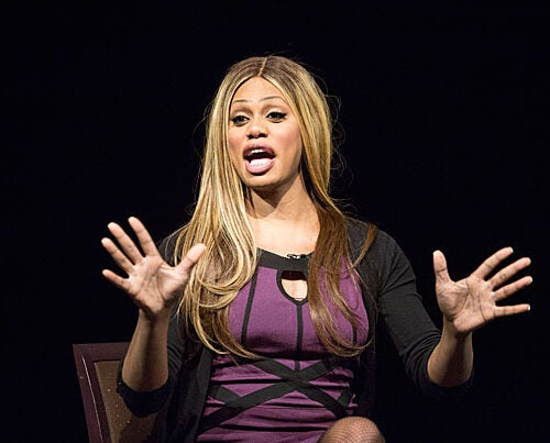 """Growing up in Alabama, I didn't have the language, but I knew I was feminine,"" said Laverne Cox, who stars in the Netflix series ""Orange Is the New Black."" At Harvard, Cox shared the experience of being a transgender woman who portrays a transgender woman on a hit TV series. The biggest life change, she said, is having a broader platform to be an activist for transgender people. ""I've been talking about this for years, and now people are listening."""