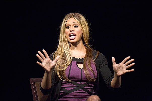 """""""Growing up in Alabama, I didn't have the language, but I knew I was feminine,"""" said Laverne Cox, who stars in the Netflix series """"Orange Is the New Black."""" At Harvard, Cox shared the experience of being a transgender woman who portrays a transgender woman on a hit TV series. The biggest life change, she said, is having a broader platform to be an activist for transgender people. """"I've been talking about this for years, and now people are listening."""""""