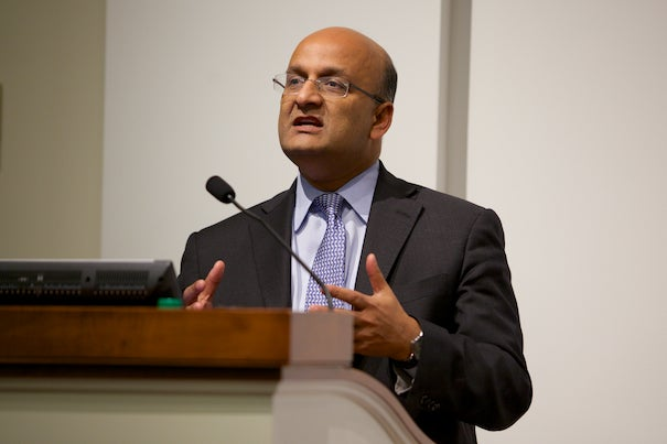 """Infrastructure is the one great thing that unites us all because we all benefit from it in so many ways,"" said Dean Nitin Nohria of the Business School."
