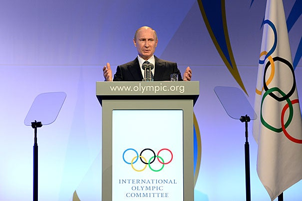 It's not hard to see why Russian President Vladimir Putin (pictured) would find the marketing potential of the Olympics so intoxicating, veteran journalist Ken Shulman noted in a talk at Harvard's Carr Center for Human Rights Policy.