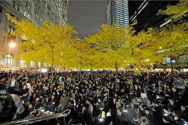 """I think one big lesson of a place like Zuccotti Park (photos 1, 2) in New York City [the base of the Occupy Wall Street protests] is that, while millions of people sign online petitions without anybody really noticing, a few hundred people can make headlines around the world for physically occupying a modest space,"" said New York Times architecture critic Michael Kimmelman."