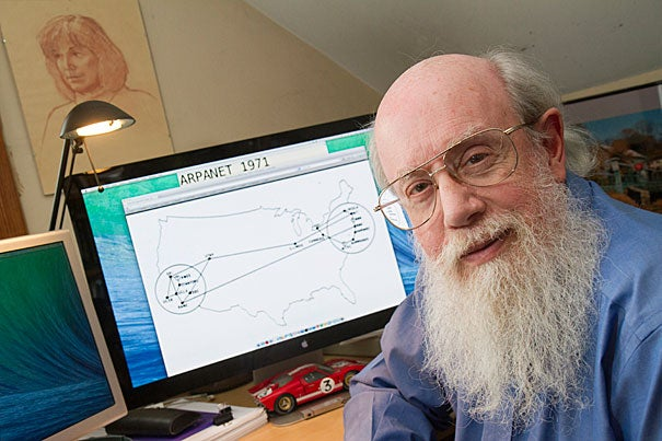 On the 25th anniversary of the World Wide Web, Scott Bradner, a senior technology consultant with Harvard, described the succession of networks that helped develop the Internet structure. On his computer monitor, Bradner showed the handful of universities in 1971 that were connected by the ARPANET.