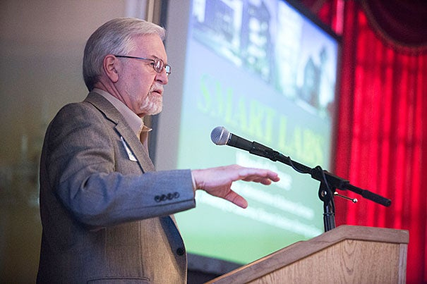 In his keynote talk at the Green Labs Symposium, Wendell Brase, vice chancellor of the University of California, Irvine, discussed the construction of the campus' groundbreaking stem cell research laboratory that was LEED platinum certified and that beat energy-efficiency standard by 50.4 percent.
