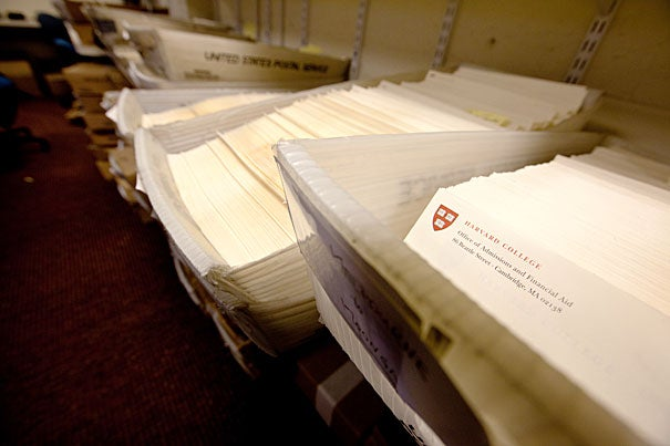 "Notifications letters were sent today to 2,023 of the more than 34,000 students who had applied to Harvard College. Among those accepted were record numbers of African-American and Latino students. ""The Class of 2018 reflects the excellence achieved by the students of an increasingly diverse America,"" said William R. Fitzsimmons, dean of admissions and financial aid."